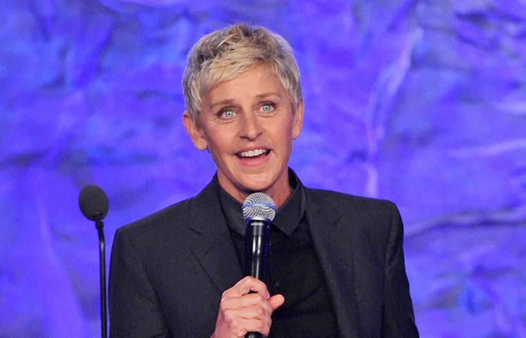Ellen DeGeneres with microphone