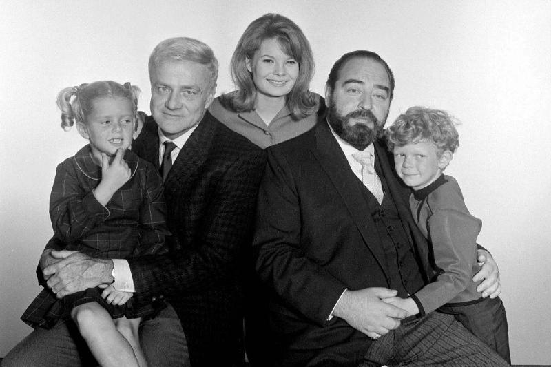 The cast of Family Affair is pictured.