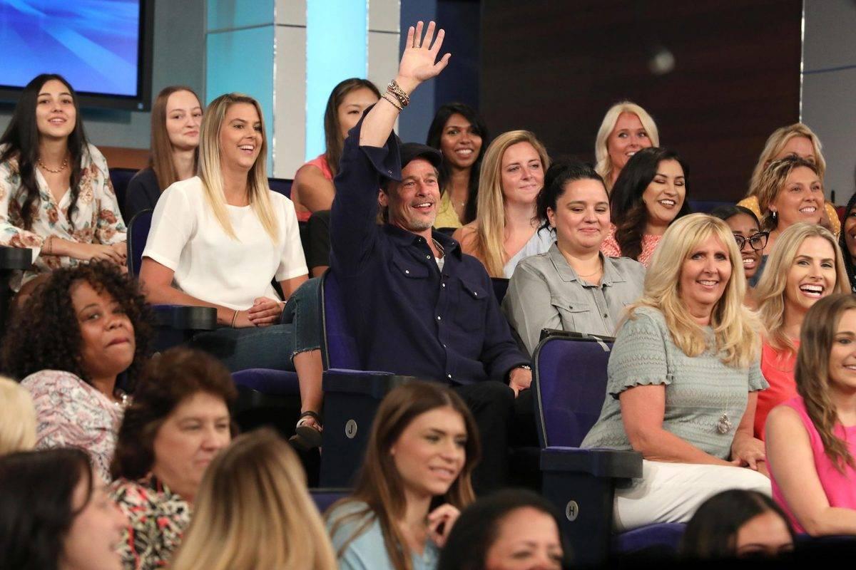 Brad Pitt in the crowd