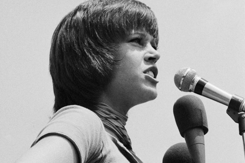 Jane Fonda Speaking at Antiwar Rally