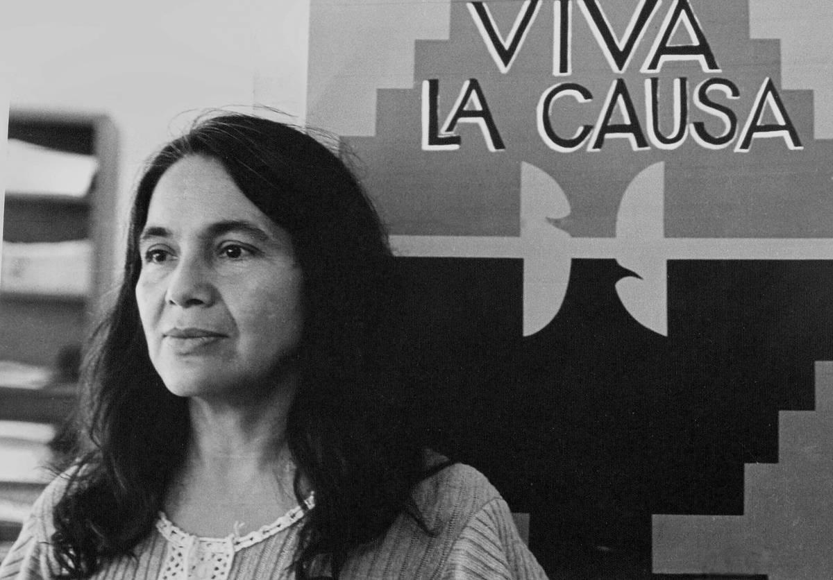 Dolores Huerta And Huelga Flag