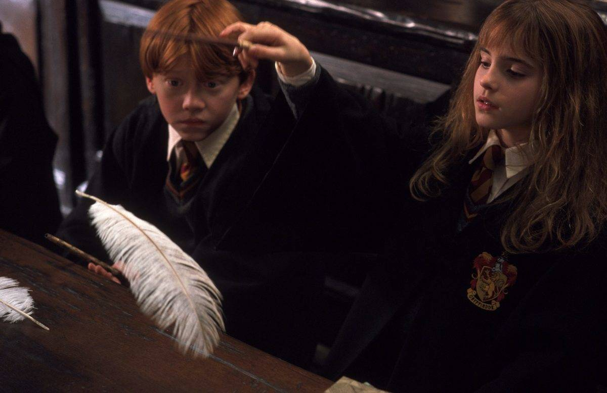 Hermione Correcting Ron's Pronunciation In Sorcerer's Stone