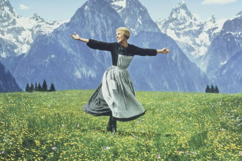 Julie Andrews Spinning Around The Sound of Music Hills