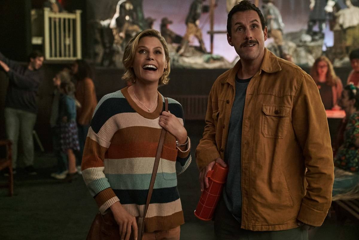 adam sandler and julie bowen in hubie halloween