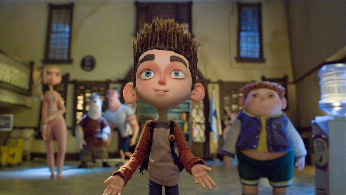 a claymation still of a teen boy from paranorman