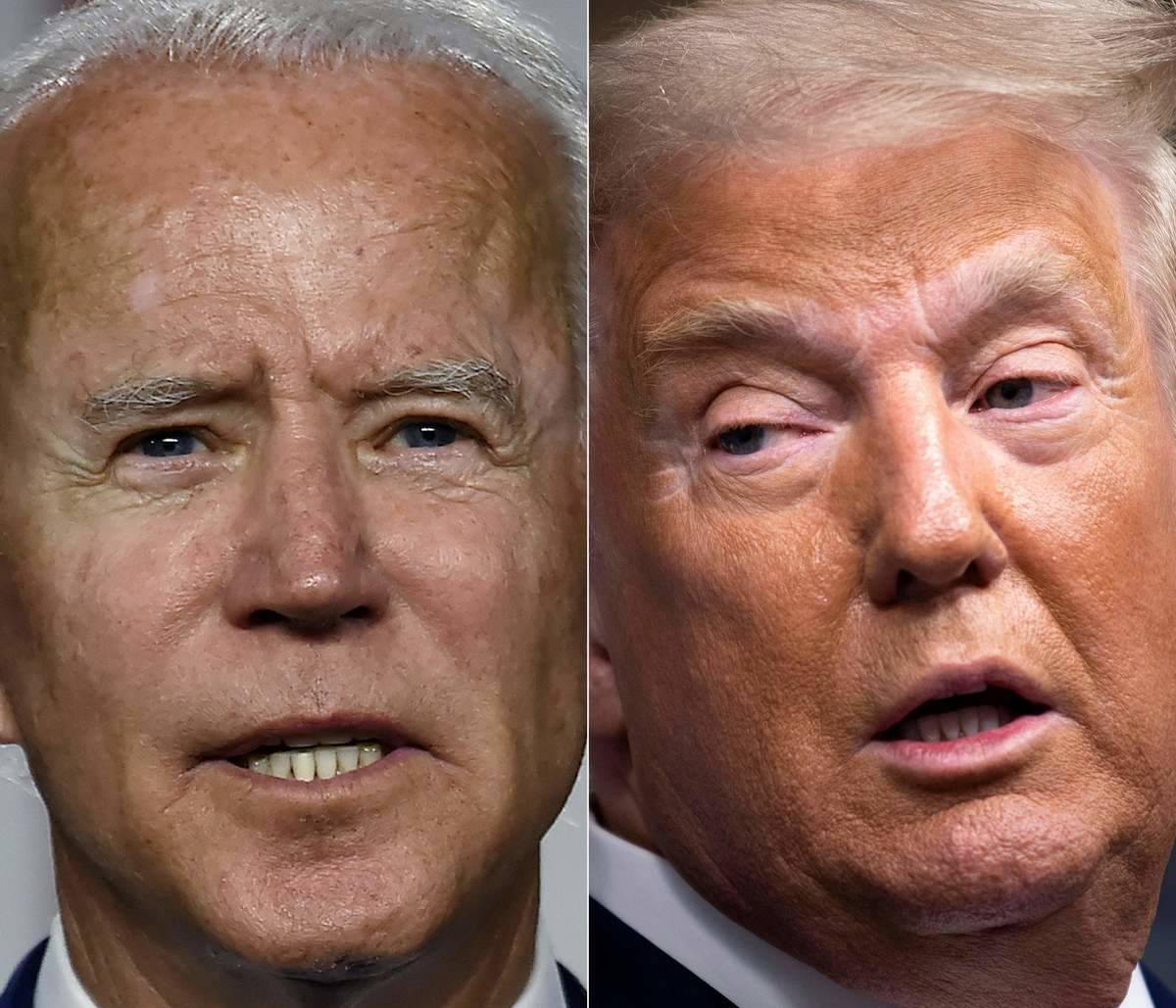 biden and trump side by side