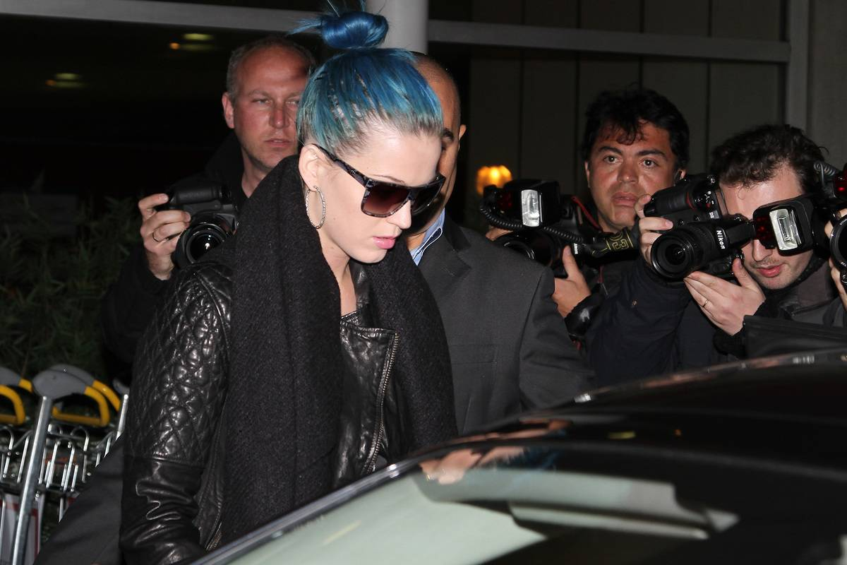Katy Perry Arrives At Roissy Airport - February 29, 2011