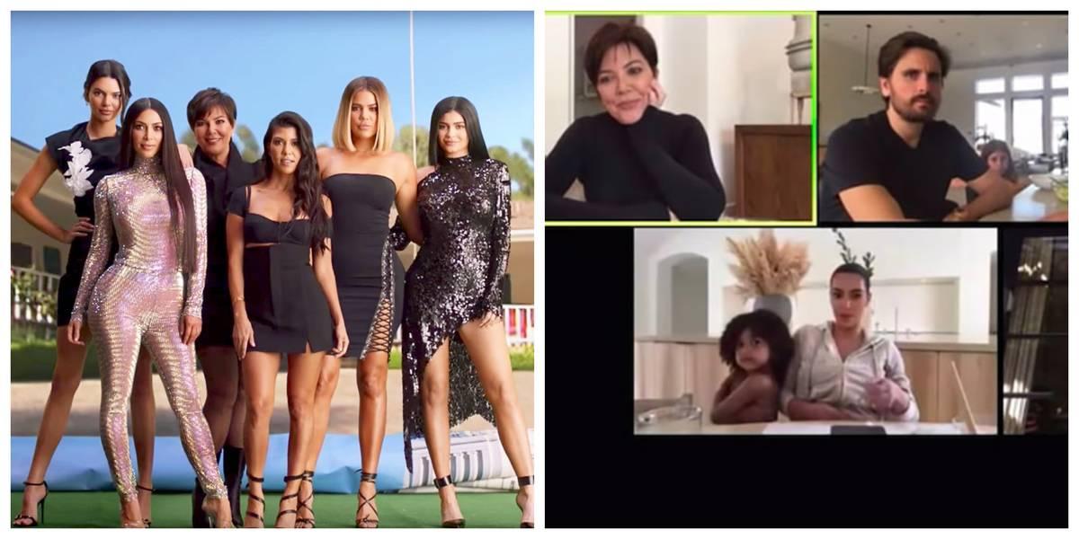 Kardashians on a zoom call