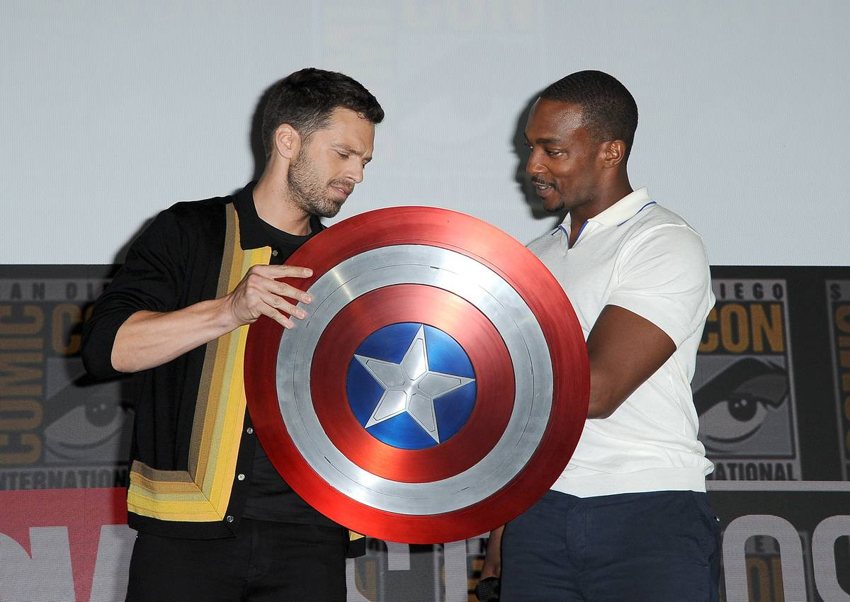 Sebastian Stan And Anthony Mackie Are Powered Up For The Falcon And The Winter Soldier