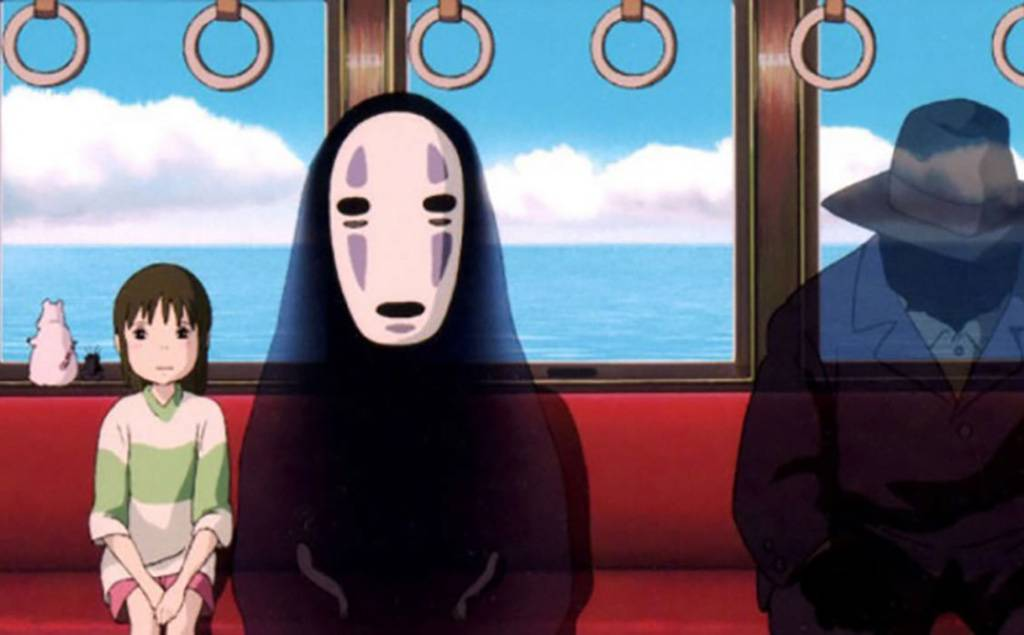 Characters on a train