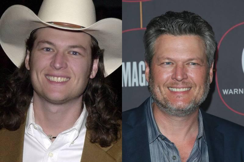 blake shelton young and old photos