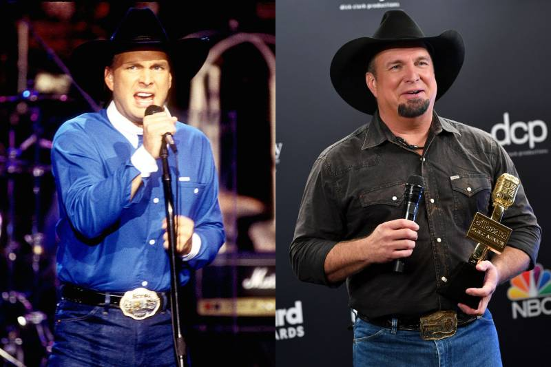garth brooks young and old photos
