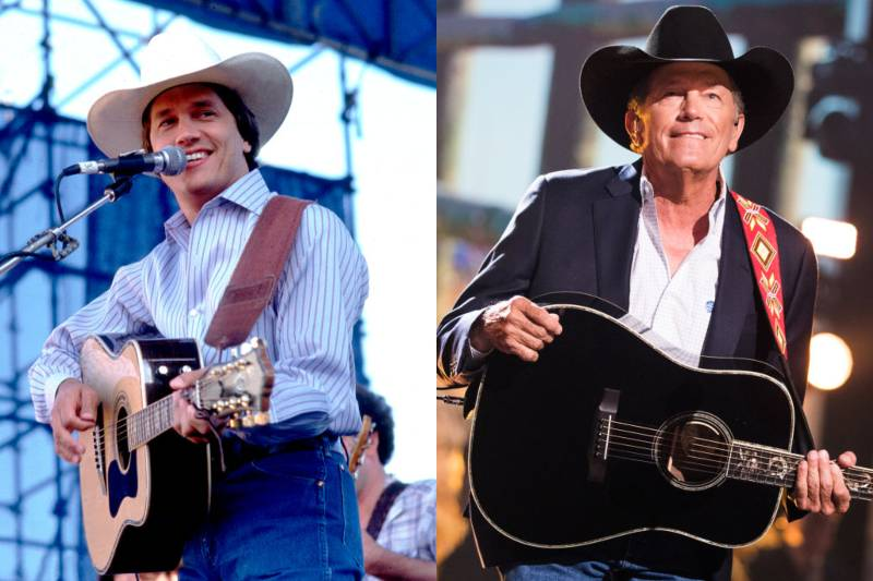 george strait young and old photos