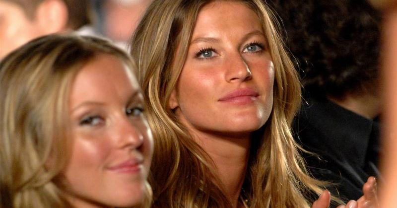 Model Gisele Bundchen with her sister