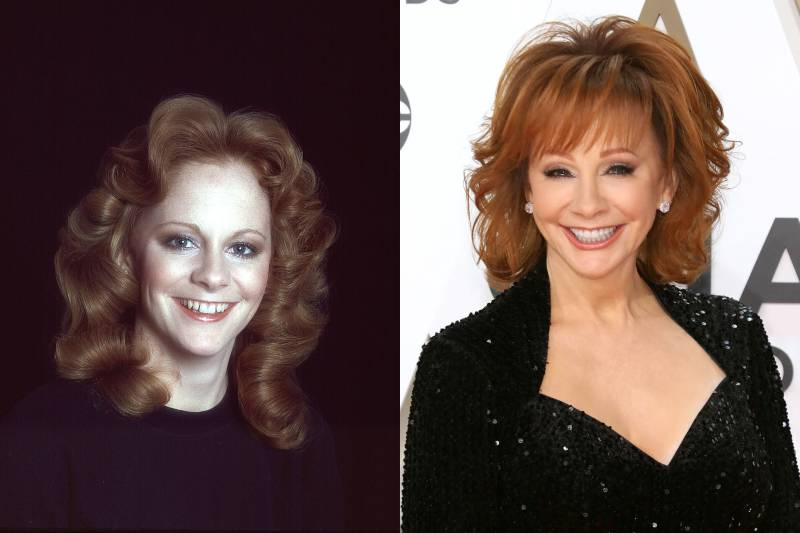 reba mcentire young and old photos