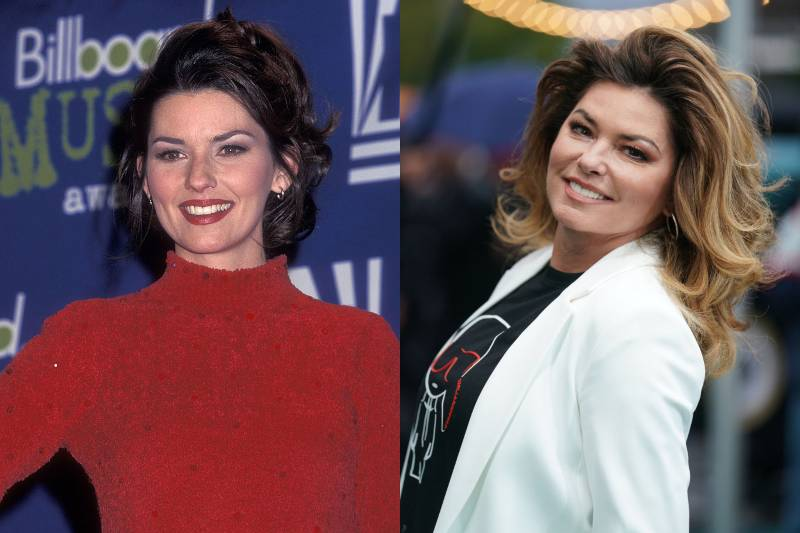 shania twain young and old photos