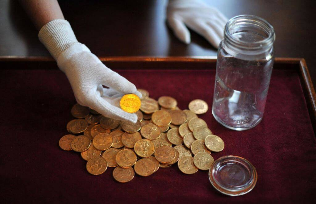 A Jar Of U.S. Gold Coins Was Found In London
