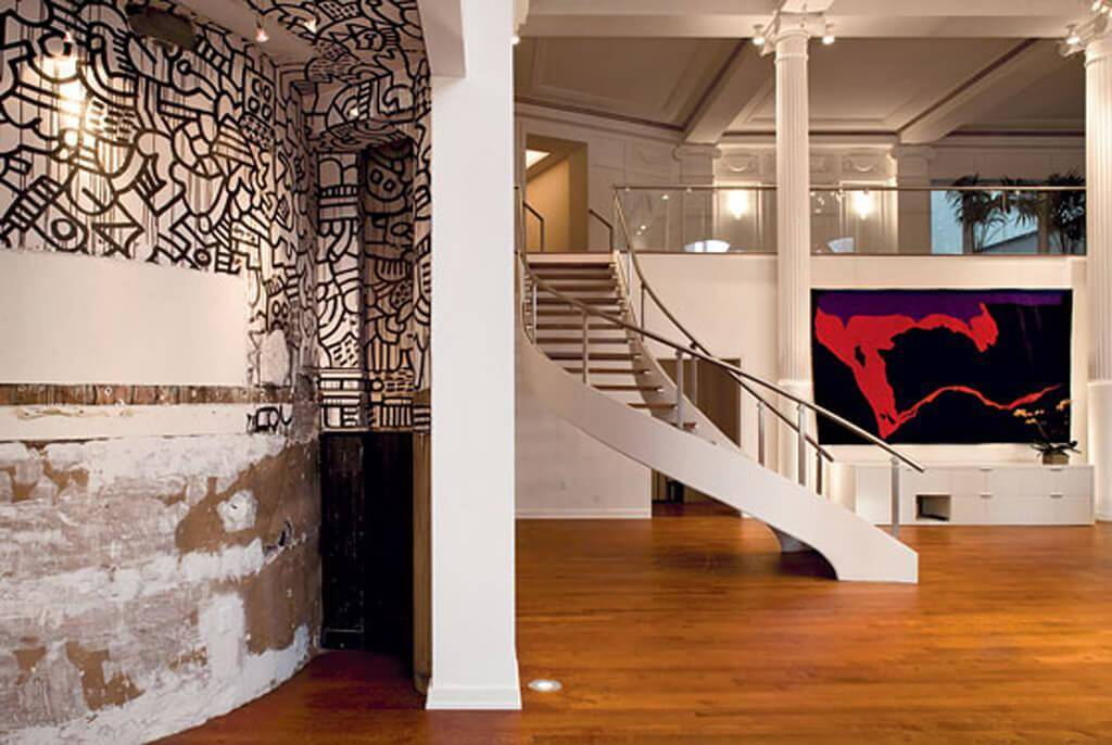 An Original Keith Haring Was Painted On The Walls