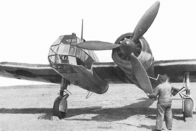 Pilots tend to the Blohm-Voss BV-141.