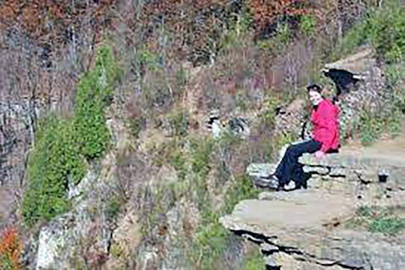 Woman on a rock