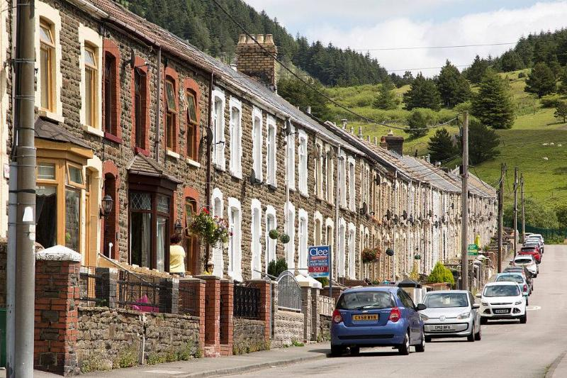 terraced houses in wales