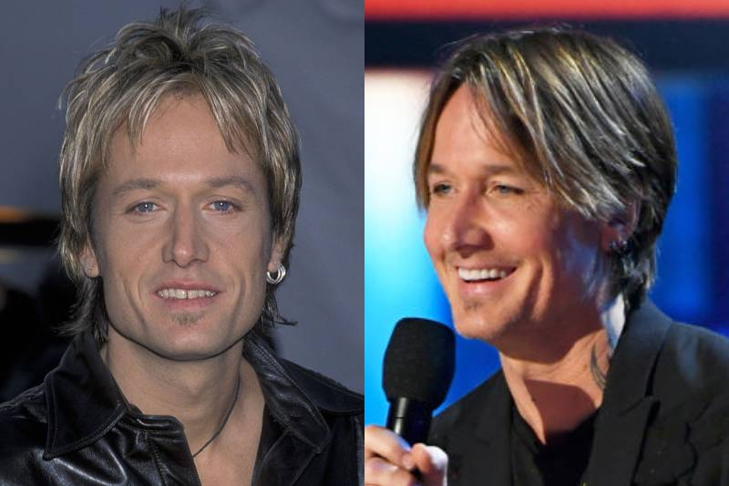 keith urban young and old photos