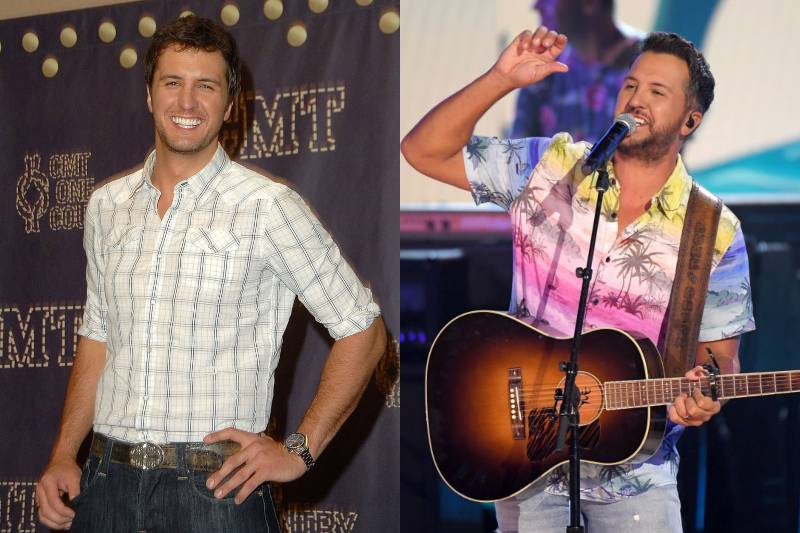 luke bryan young and old photos