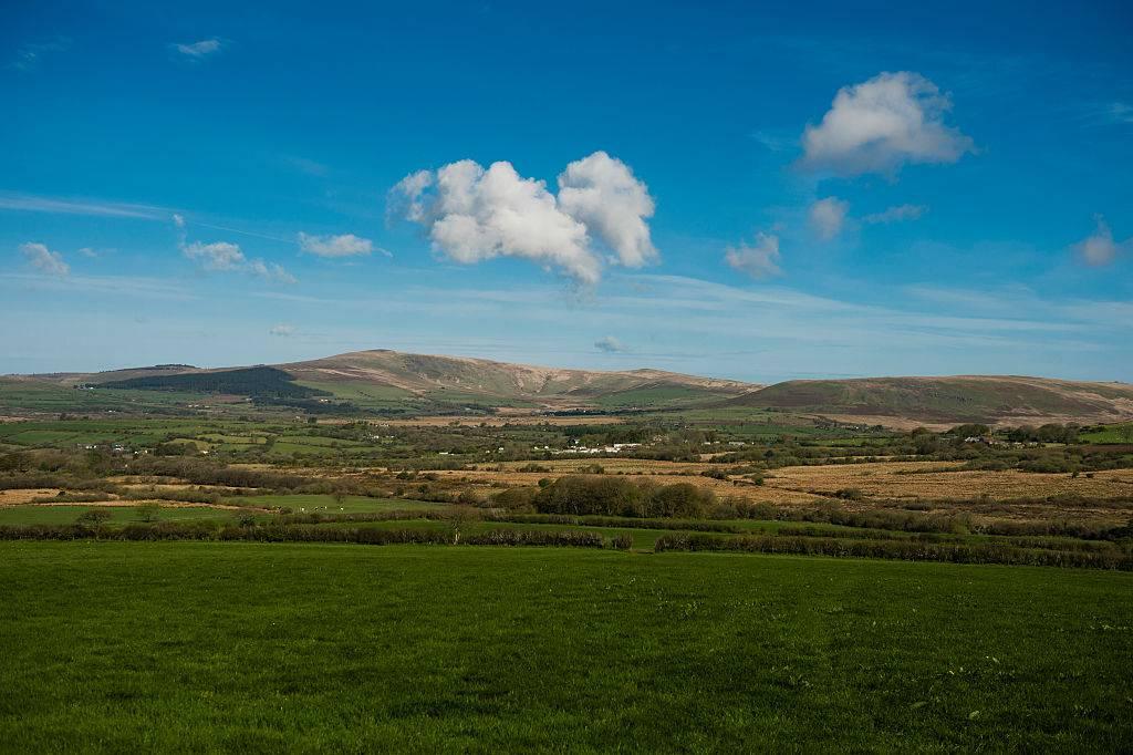 blue skies in Pembrokeshire