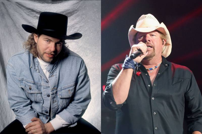 toby keith young and old photos
