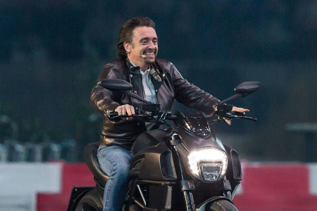 Richard Hammond on a motorcycle