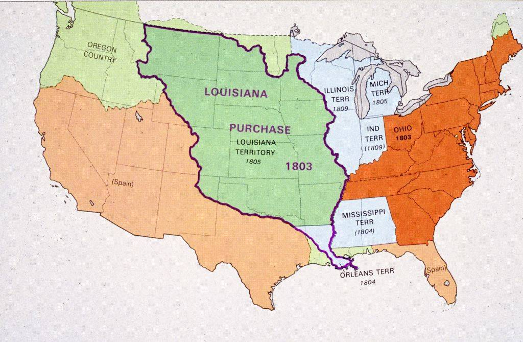 map of the Louisiana Purchase