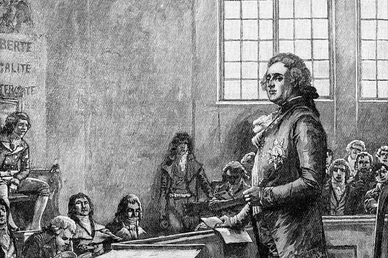 Men in a courtroom