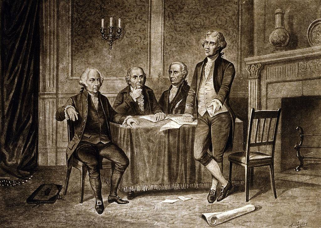 Picture of men at a table