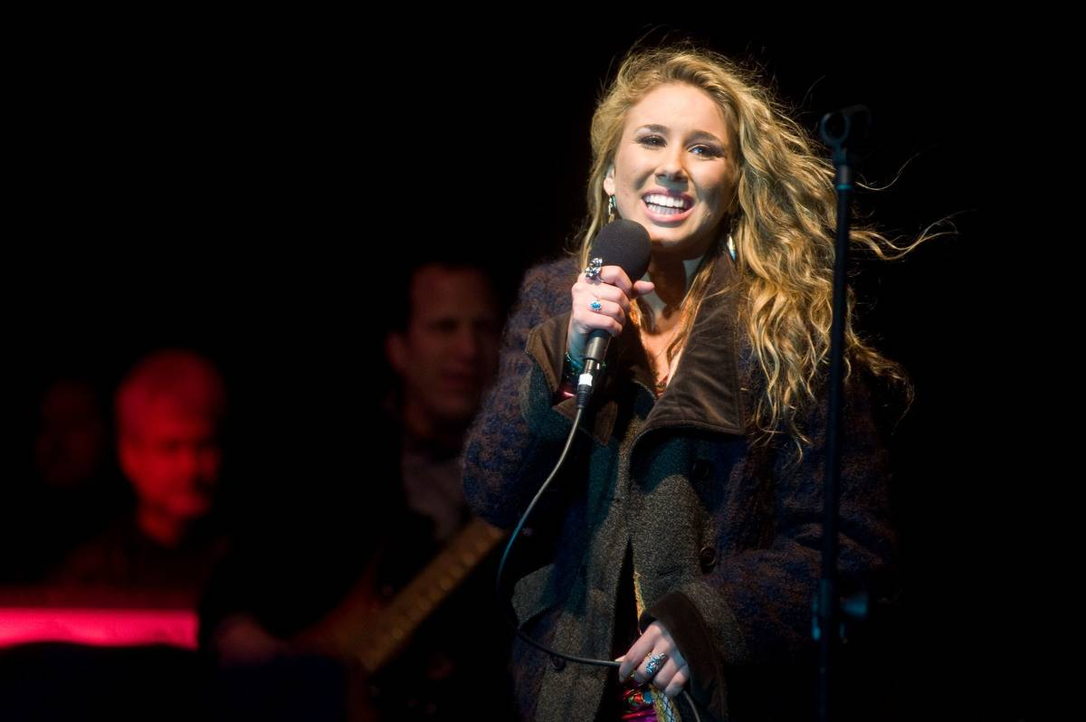 Haley Reinhart attends the homecoming for