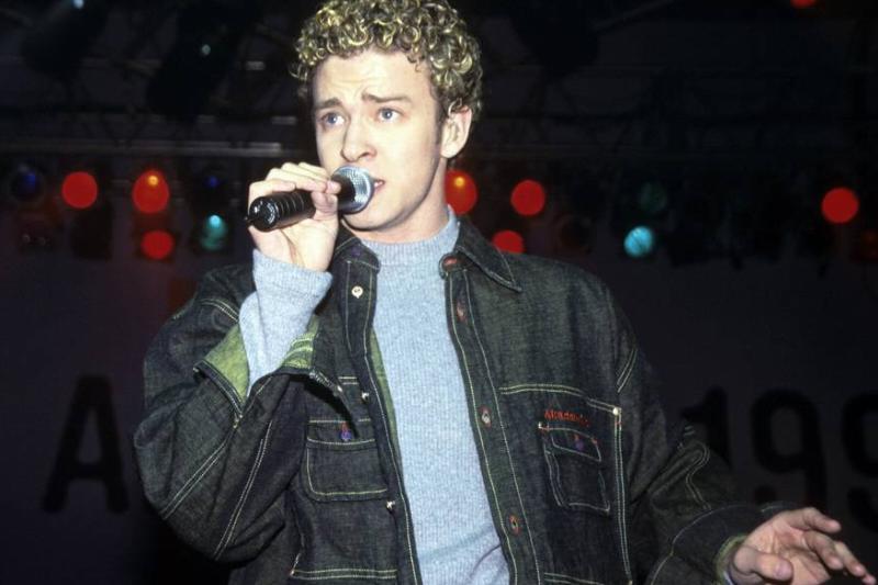 Justin Timberlake performs in 1999.