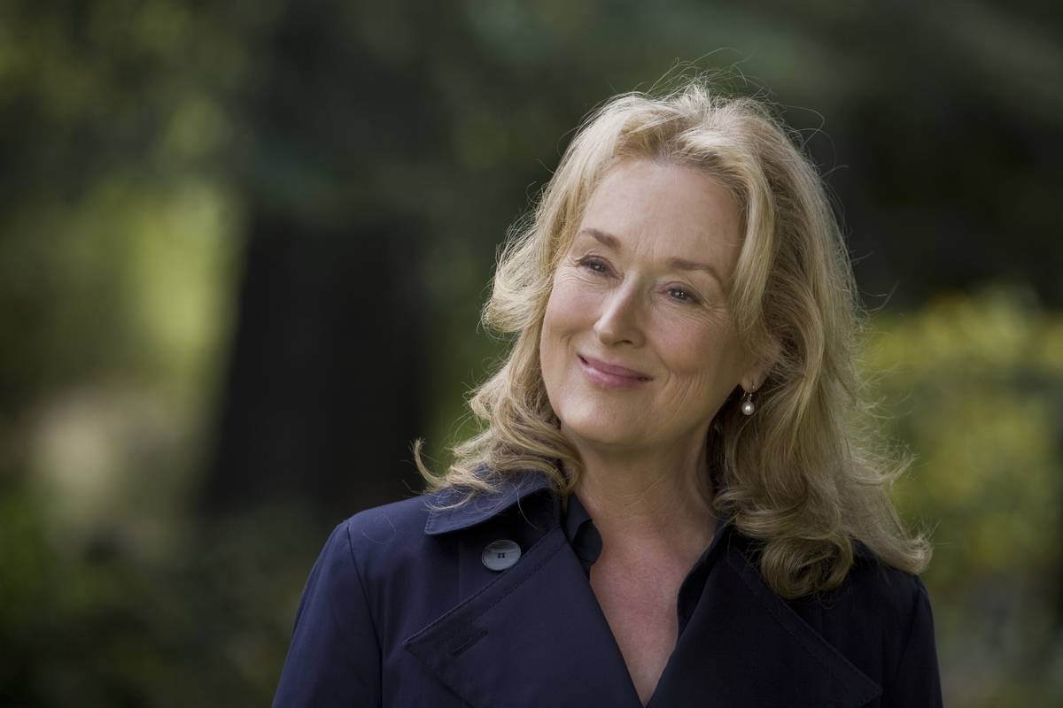 Meryl Streep smiling in it's complicated