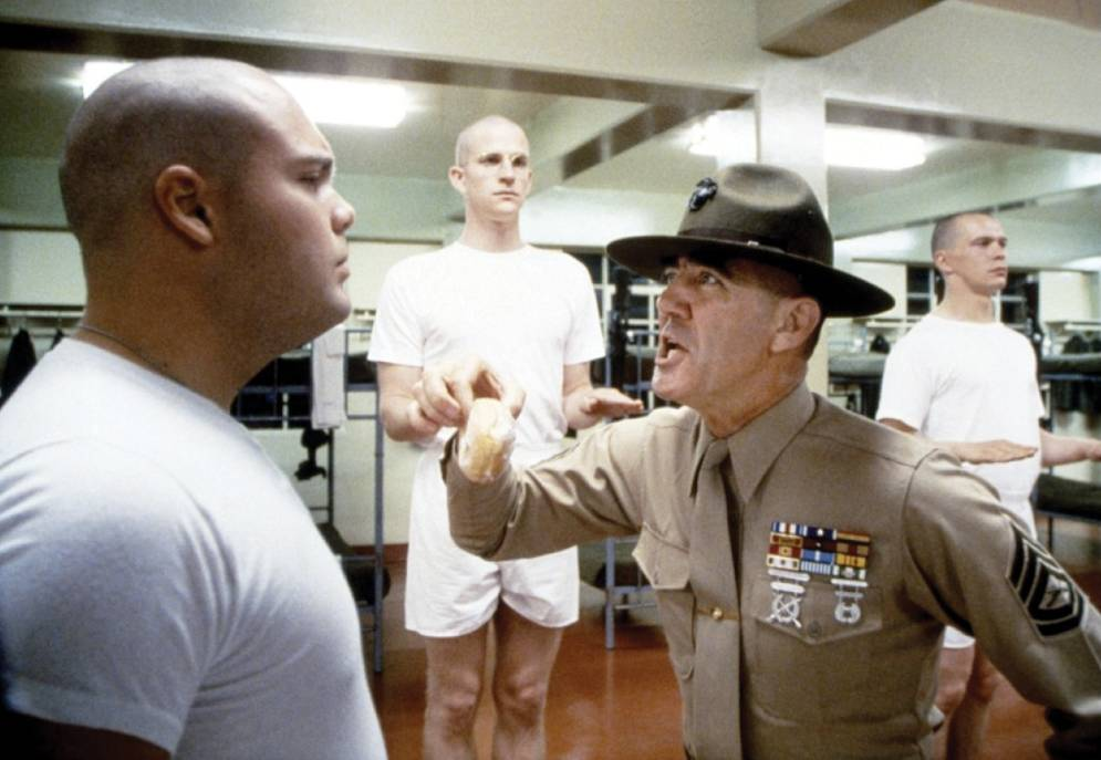 Matthew Modine, Vincent D'Onofrio, and R. Lee Ermey in Full Metal Jacket
