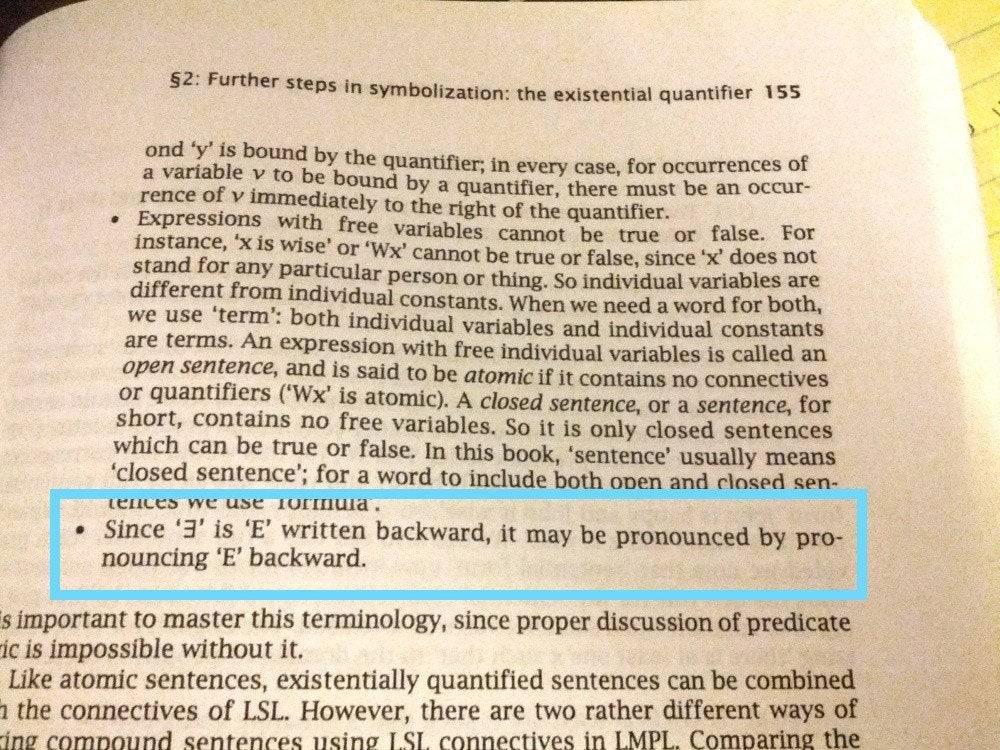 A textbook explains that