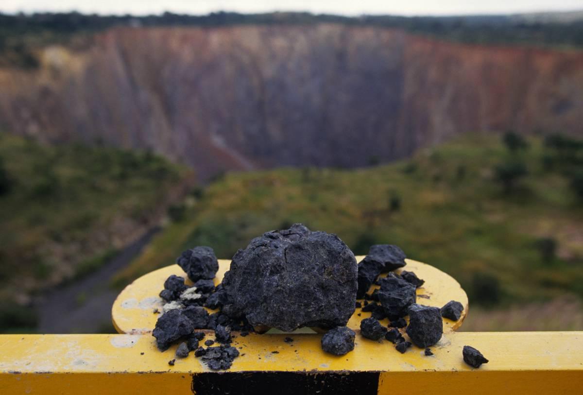 Minerals are seen above the Premier Cullinan Diamond Mine.
