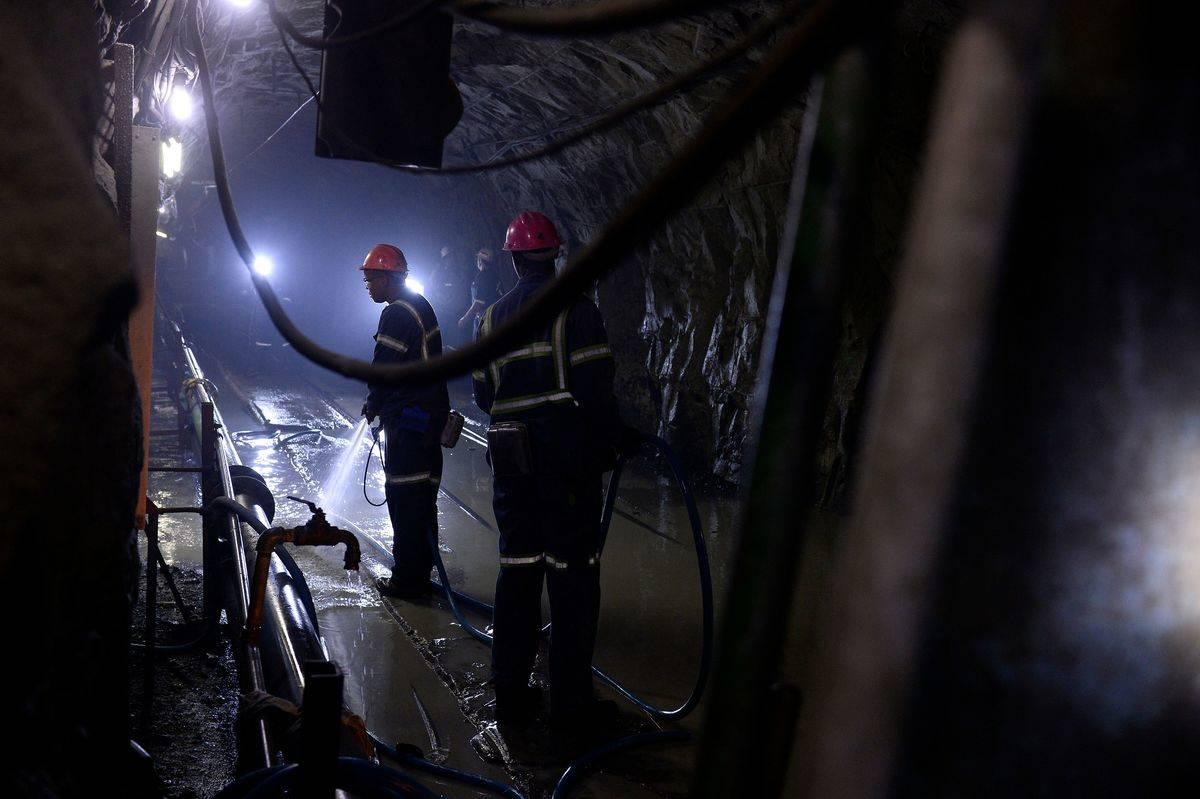 Miners search deep beneath the Cullinan mine.