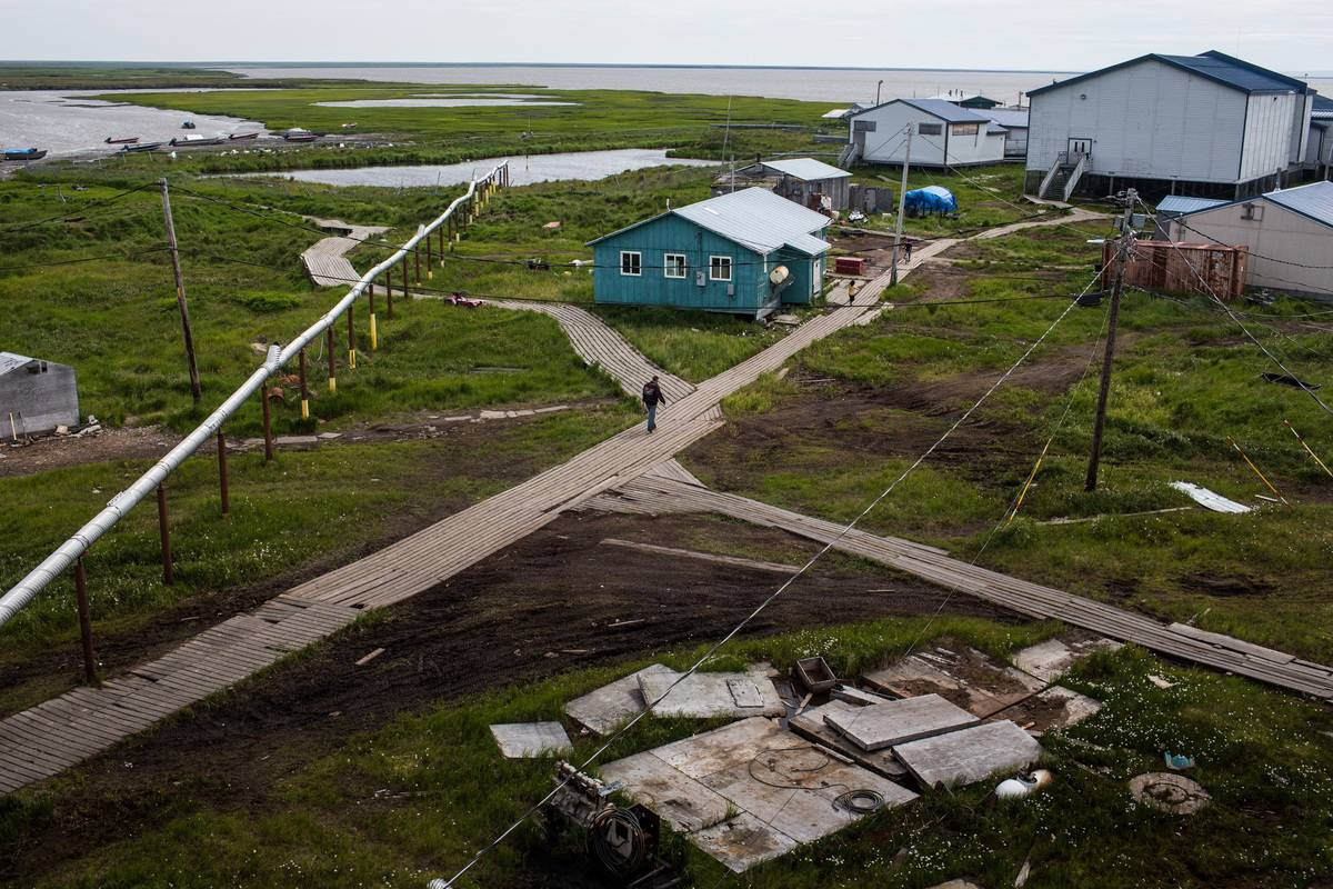 The rising sea and melting permafrost destroyed this Alaskan neighborhood.