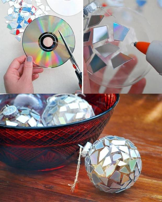1. Recycle old CDs