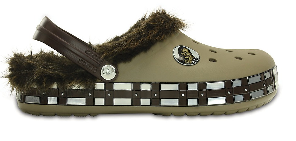 For the kiddies, has created fur-lined Chewbacca shoes. Have to admit, those are pretty cute.