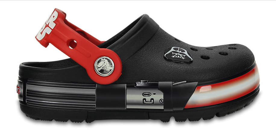 Darth Vader is available in Croc form, too!