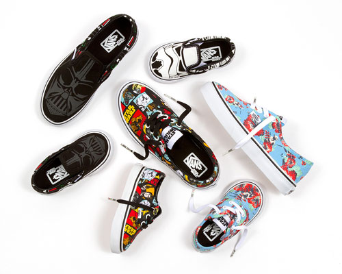 The cult classic company  has a cool line of sneakers (for adults and kids) featuring Boba Fett and Stormtrooper characters.