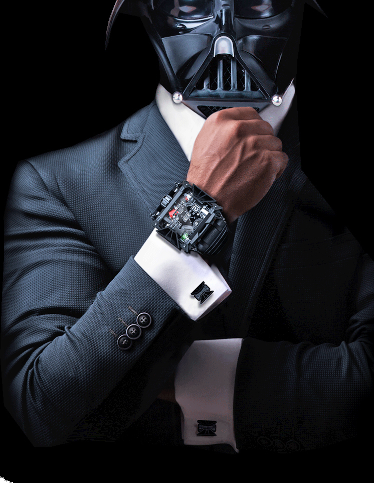 And for the ultimate fan, here's a $28,500 luxury Darth Vader watch.