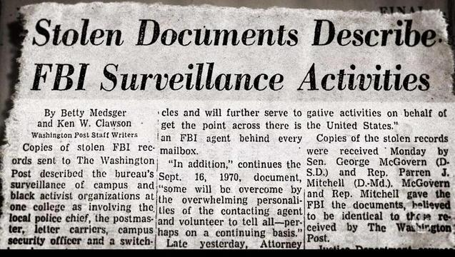 Counter Intelligence Programs Against Activists