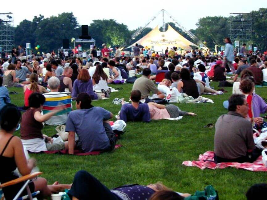 Make Yourself Comfortable at a Free Park Concert
