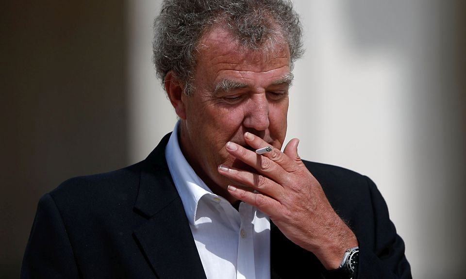 LONDON, ENGLAND - APRIL 17:  Jeremy Clarkson smokes as he leaves a reception at the Guildhall following the ceremonial funeral of former British Prime Minister Margaret Thatcher on April 17, 2013 in London, England. Dignitaries from around the world today join Queen Elizabeth II and Prince Philip, Duke of Edinburgh as the United Kingdom pays tribute to former Prime Minister Baroness Thatcher during a Ceremonial funeral with military honours at St Paul's Cathedral. Lady Thatcher, who died last week, was the first British female Prime Minister and served from 1979 to 1990.  (Photo by Matthew Lloyd/Getty Images)