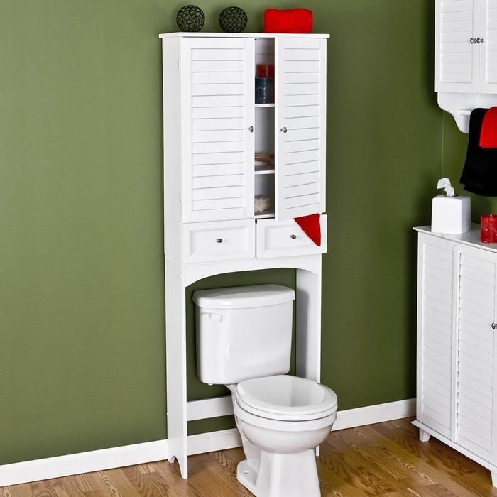 more shelf space will help to keep your bathroom free of clutter just be careful when you reach for items over the toilet so that you dont drop things